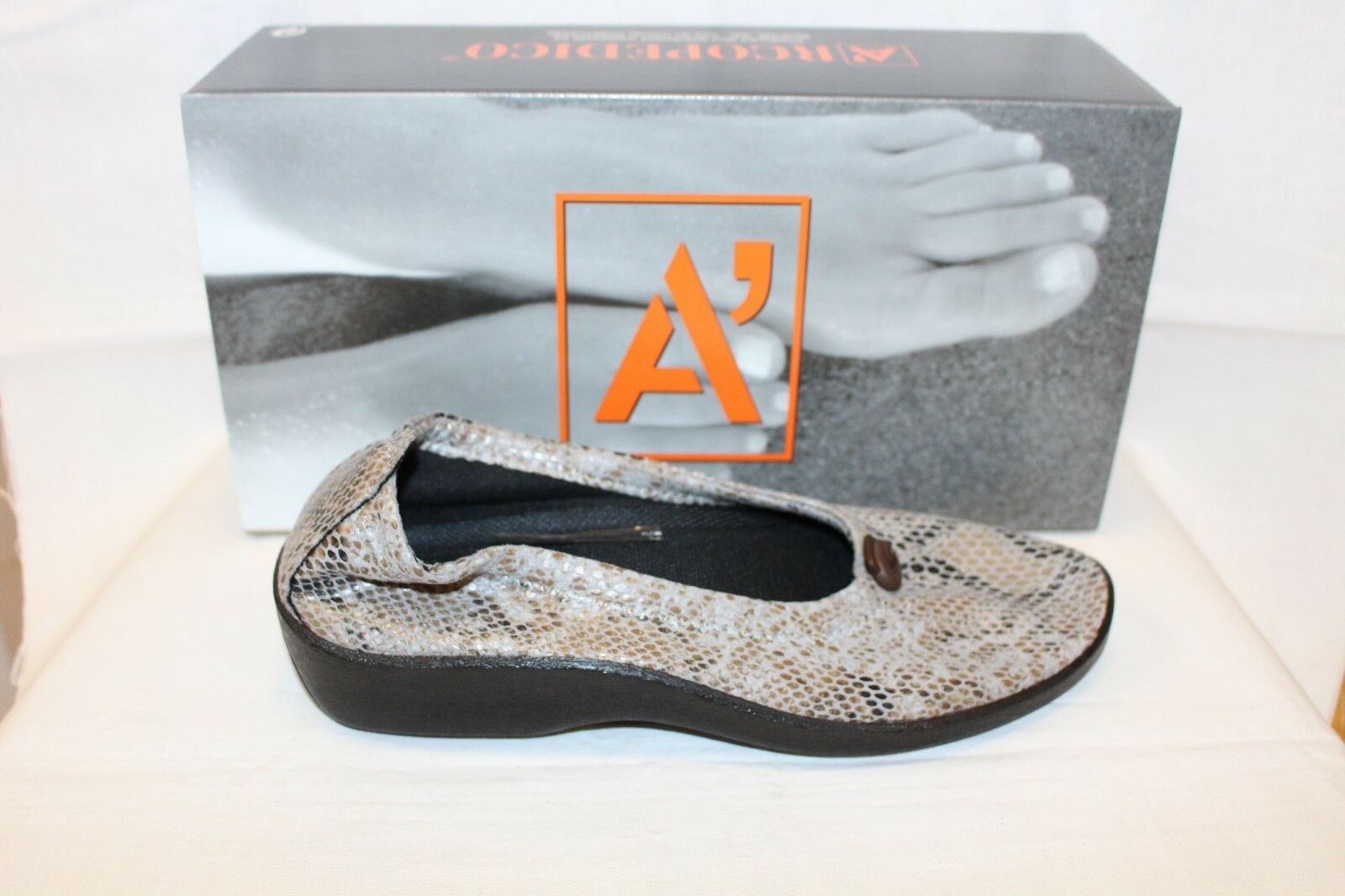 Gentlemen/Ladies LADIES SHOES/FOOTWEAR -Arcopedico L14 grey snake Easy to clean surface Primary quality Different goods