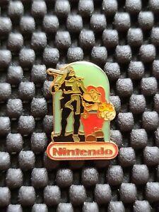 Vintage Nintendo Employee Mario William Tell Switzerland Promo pin badge rare ye