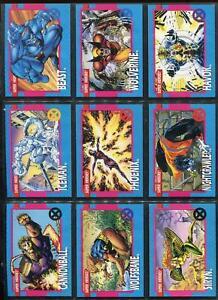 1992-X-MEN-SERIES-I-1-IMPEL-MARVEL-COMPLETE-CARD-SET-1-100-Jim-Lee