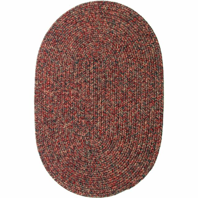 Super Area Rugs Braided Rug Country Cottage Farmhouse Decor In Sangria