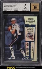2000 Playoff Contenders Championship Ticket Tom Brady RC AUTO /100 #144 BGS 8