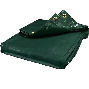 Image is loading 24-mil-Heavy-Duty-Canopy-Tarp-GREEN-Vinyl-  sc 1 st  eBay & 24 mil Heavy Duty Canopy Tarp GREEN Vinyl Tent Car Boat Cover (10 ...