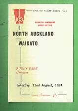 #VV1.  RUGBY UNION PROGRAM -  NORTH AUCKLAND  V  WAIKATO  22nd August 1964