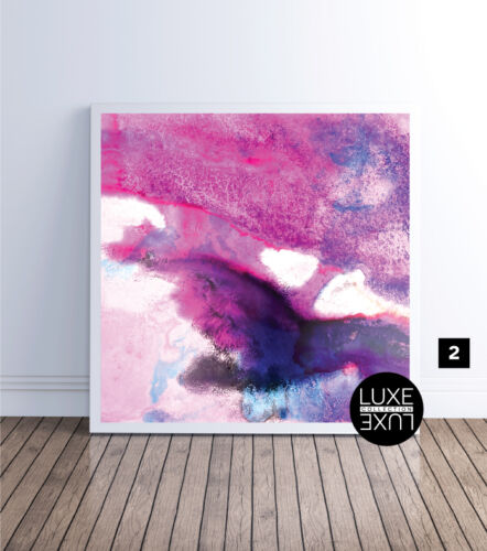 Athena Watercolour Art Print Purple Red Blue Luxe Print Poster or Canvas