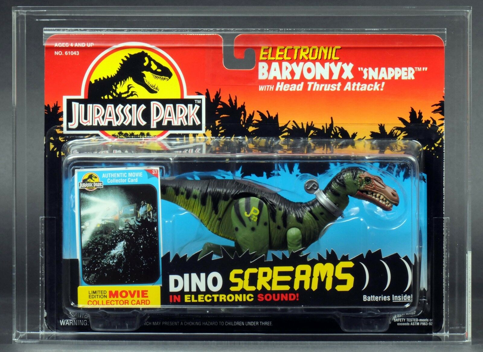 1994 Kenner Jurassic Park Electronic Baryonyx Snapper Series 2 AFA 85 MOC