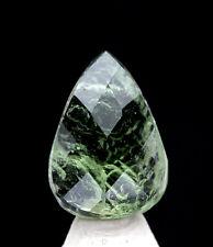 Teardrop Faceted Moldavite Meteorite Impact Impactite Tektite Loose Gem Jewelry