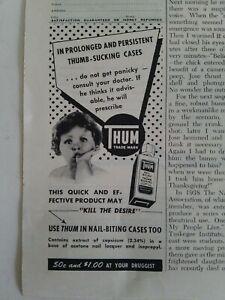 1950-Dedo-Pulgar-Pulgar-Chupando-Unas-Mordelon-Medicina-Vintage-Salud-Anuncio