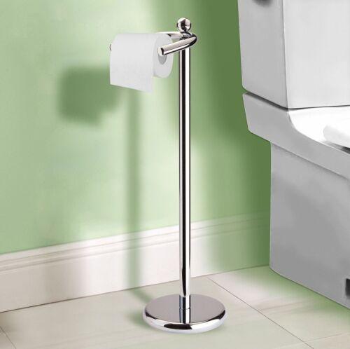 Rouleaux de Papier Toilette Papier Support sol autoportante CHROME salle de bains avec pondérée Base