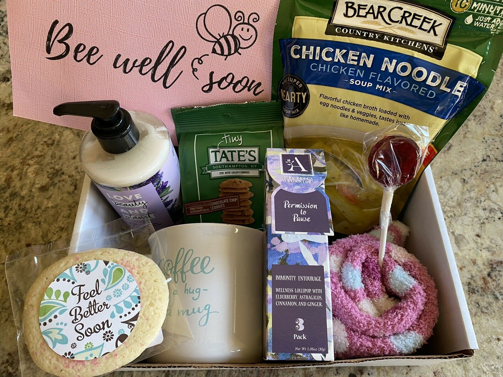 Get Well Soon Care Package Kit Feel Better Gift Box Personalized Hospital Afte For Sale Online Ebay