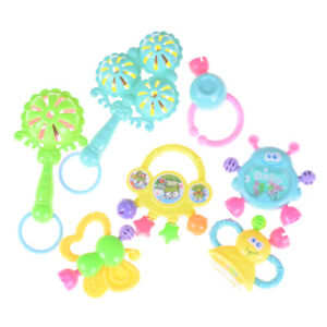 7Pcs-Newborn-Toddler-Baby-Shaking-Bell-Rattles-Teether-Toys-Kids-Hand-Toys-HI