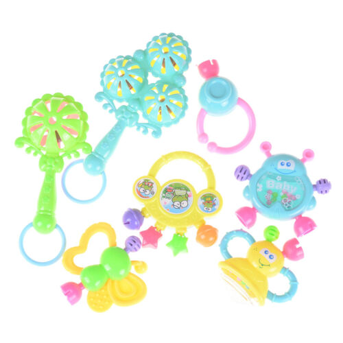 7Pcs Newborn Toddler Baby Shaking Bell Rattles Teether Toys Kids Hand Toys H/&P