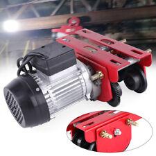 New Listing1100lbs Electric Hoist Winch Lifting Engine Crane Lift Overhead Motor 110v 05t