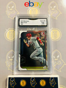 2015-Bowman-Mike-Trout-50-10-GEM-MINT-GMA-Graded-Baseball-Card