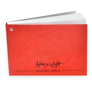 Ashton-amp-Wright-Revision-Cards-Book-Gummed-Spine-50-Sheets-Red-Cover