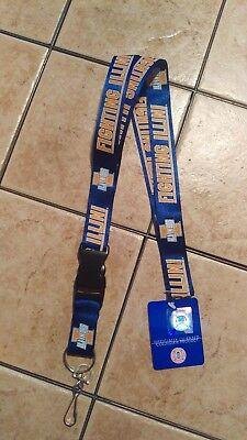 NWT NCAA Illinois Fighting Illini Blue Lanyard Keychain