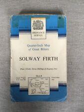 1963 Ordnance Survey Fifth Series Quarter Inch Solway Firth Cloth Map Sheet 8
