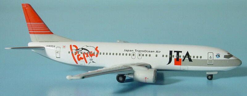 Herpa Wings 1 500 Japan Transocean JTA Papas Island 737-400 id 505932 rlsd 2003