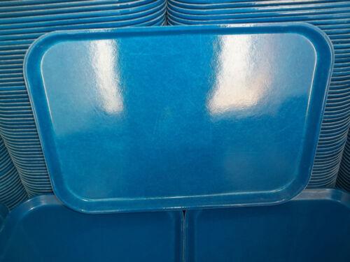 Lot of 12 Cambro Camtray fast food rectangular trays blue 12 x 16 fiberglass