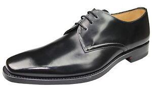 Loake-Schuhe-253-Plain-Derby-rahmengenaeht-Brush-Leder-Auslaufmodell-Sonderpreis