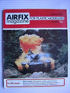 Airfix-Revue-pour-Plastique-Modelisateurs-March-1973-Militaire-Modelage-Etc