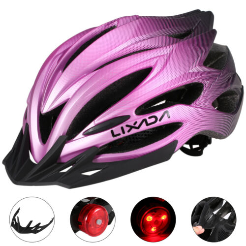 Details about  /Mountain Bicycle Road Bike Cycling Safety Helmet with Rear Light Sun Visor I6A2