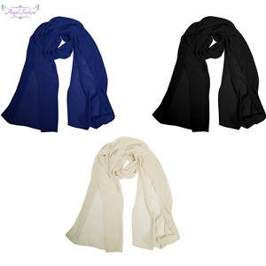 Angel-fashions-Scarf-Chiffon-Shawl-Black-Blue-Apricot-Scarves-Silk