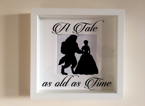 Ikea Ribba Box Frame Vinyl Wall Art Quote Beauty Beast A Tale As Old