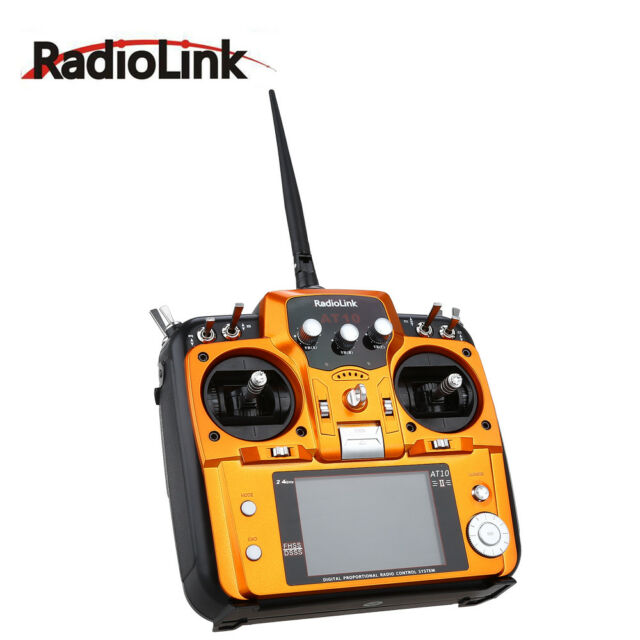 RadioLink AT10II 2.4G 12CH RC Transmitter & R12DS Receiver PRM-01 for Quadcopter