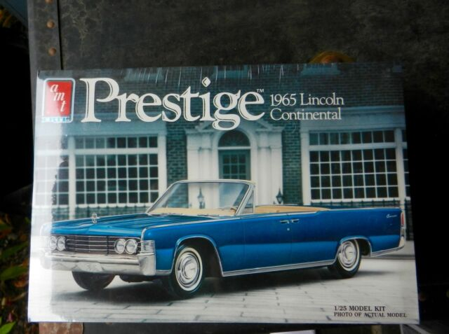 AMT PRESTIGE 1965 LINCOLN CONTTINENTAL STOCK/CUSTOM/WAGON 1:25TH SCALE MODEL KIT