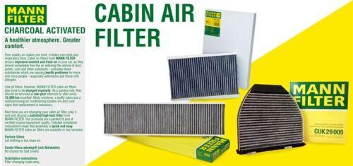 For Mercedes C216 W221 V221 CL550 CL600 CL63 AMG Cabin Air Filter Mann CUK2722-2