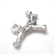 20 Pcs 11x6mm Tibetan Silver Christmas Deer Alloy Charm Pendants - A2346-A