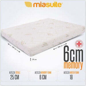 Materasso Matrimoniale 160x200.Dettagli Su Materasso Matrimoniale 160x200 Alto 25 Cm Sfoderabile Con 6 Cm Memory Premium