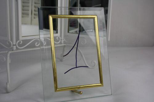 Fotorahmen Glas mit Aufsteller Bilderrahmen 10x15//13x18 Gold// Silber Tischnummer