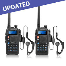 2*BAOFENG UV-5X UHF+VHF Dual Band/Watch 2-Way Radio Walkie Talkie New Exclusive