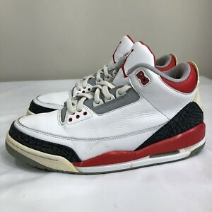 a7f054075f76 Nike Air Jordan Retro III 3 Fire Red 2007 Men s 12 White Black ...