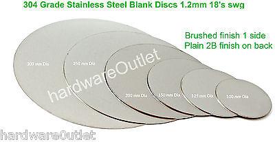 Brushed Stainless Steel Blank Disc 1 2mm Grade 304 Laser