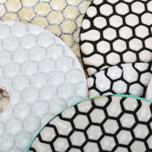 "Diamond Polishing Pads 4/"" 100mm Dry Buffing Granite Stone Concrete Marble 1Pc"