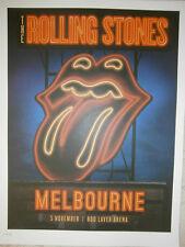 Rolling Stones poster Melbourne lithograph live  14 on FireTour LITHO australia