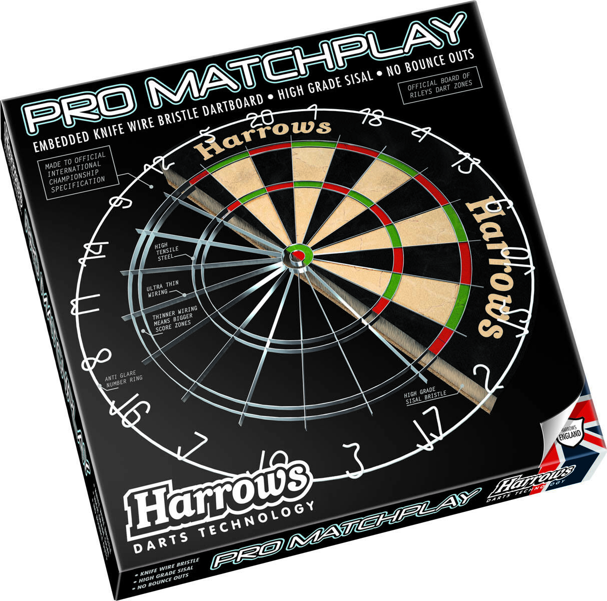HARROWS-Pro-Matchplay Bristle board Dartscheibe Steeldart  Dartboard Darts