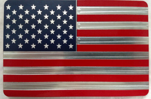 Billet Aluminum Hitch Cover Plug,4x6 Made In USA Red//Blue AMERICAN FLAG