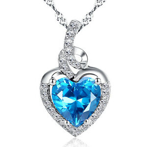 Sterling-Silver-2-00-ct-Lab-Blue-Topaz-Heart-Shaped-Gemstone-Pendant-Necklace