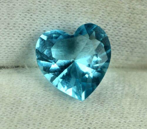 Heart Shape Aqua Blue Aquamarine 2.65 Carat//9mm Natural Gemstone Certified DB58