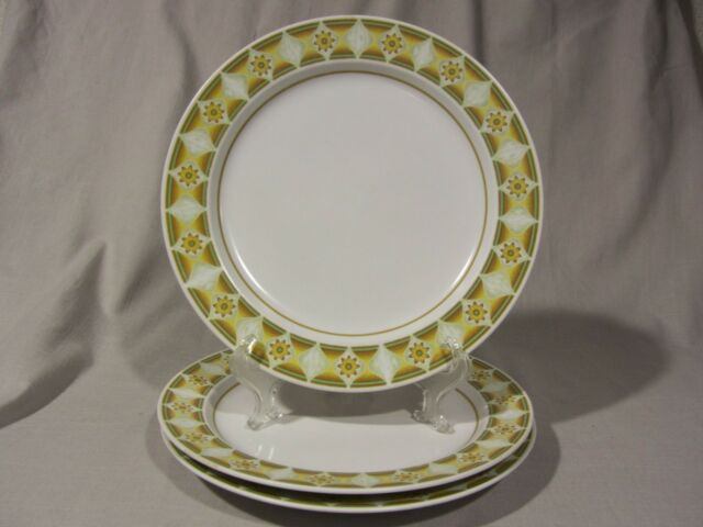 Noritake Progessions Stoneware Yellow SUNGLOW 9042 - Dinner Plates - Set of 3