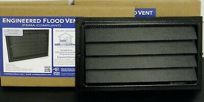 COVERS 205 sq.ft STATE CERTIFIED FEMA COMPLIANT ENGINEERED FLOOD VENT 8x16