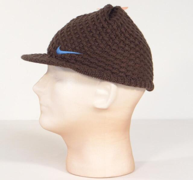 4918a5bce747c Nike Brown Visor Knit Beanie Skull Cap Youth Boy s 4-7 for sale ...