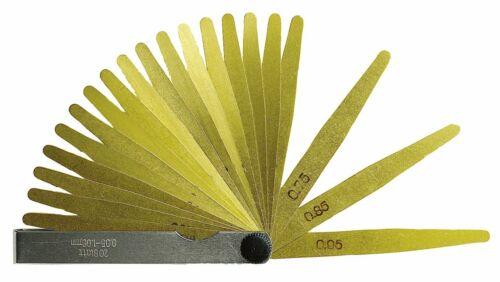 aus Messing Länge 100 mm teilige Präzisions Fühlerlehre 0,05-1,0 mm 13