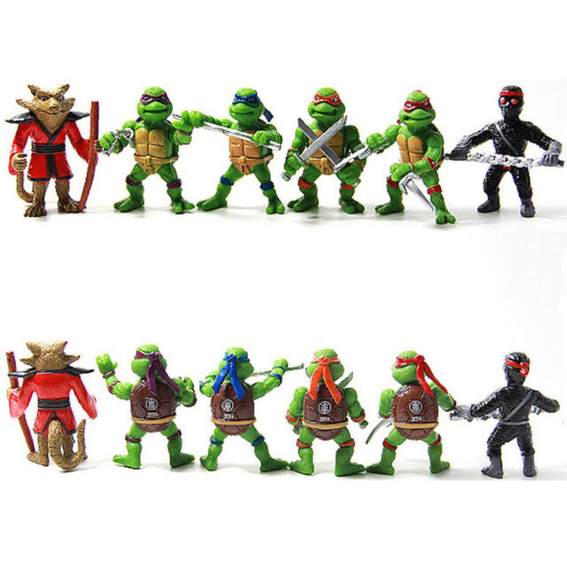 6Pcs Teenage Mutant Ninja Turtles TMNT Action Figures Toy New Classic Collection