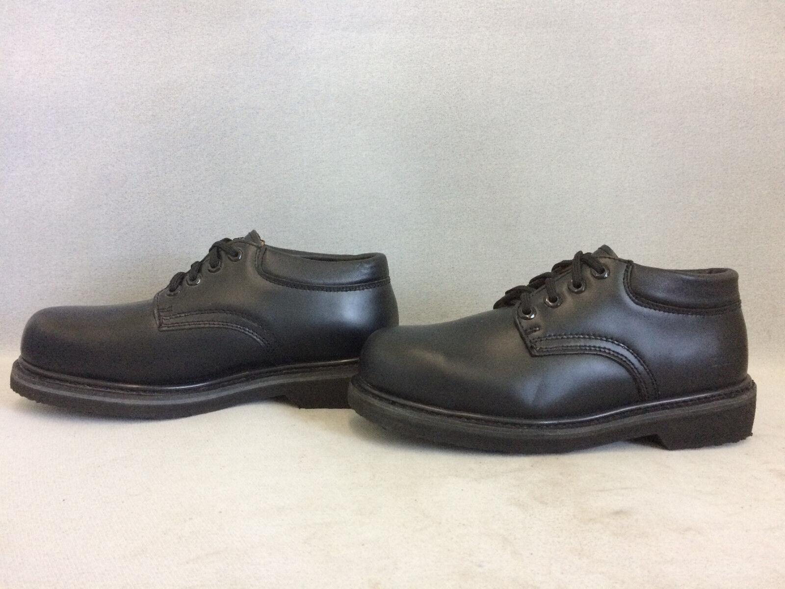 DieHard Men's 82402 Steel Toe Work Oxford  Black Leather Safety shoes