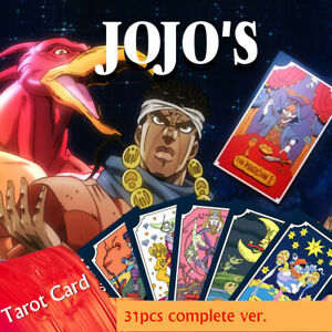 Anime-JoJo-039-s-Bizarre-Adventure-Tarot-Card-31-PCS-Cosplay-Props-Board-Game-Gift