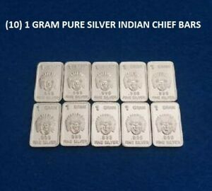 Lot of 10 x 1 gram Valcambi Suisse Silver Bars.999 10g Silver-Volume Pricing